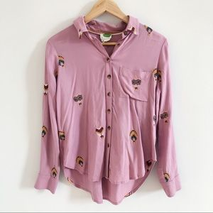 NWOT Anthropologie | Embroidered Button-Down